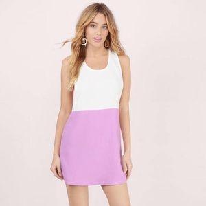 Tobi A Step Above Lavender & White Shift Dress NWT